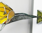 Tulip in Yellow/Orange  Stained Glass