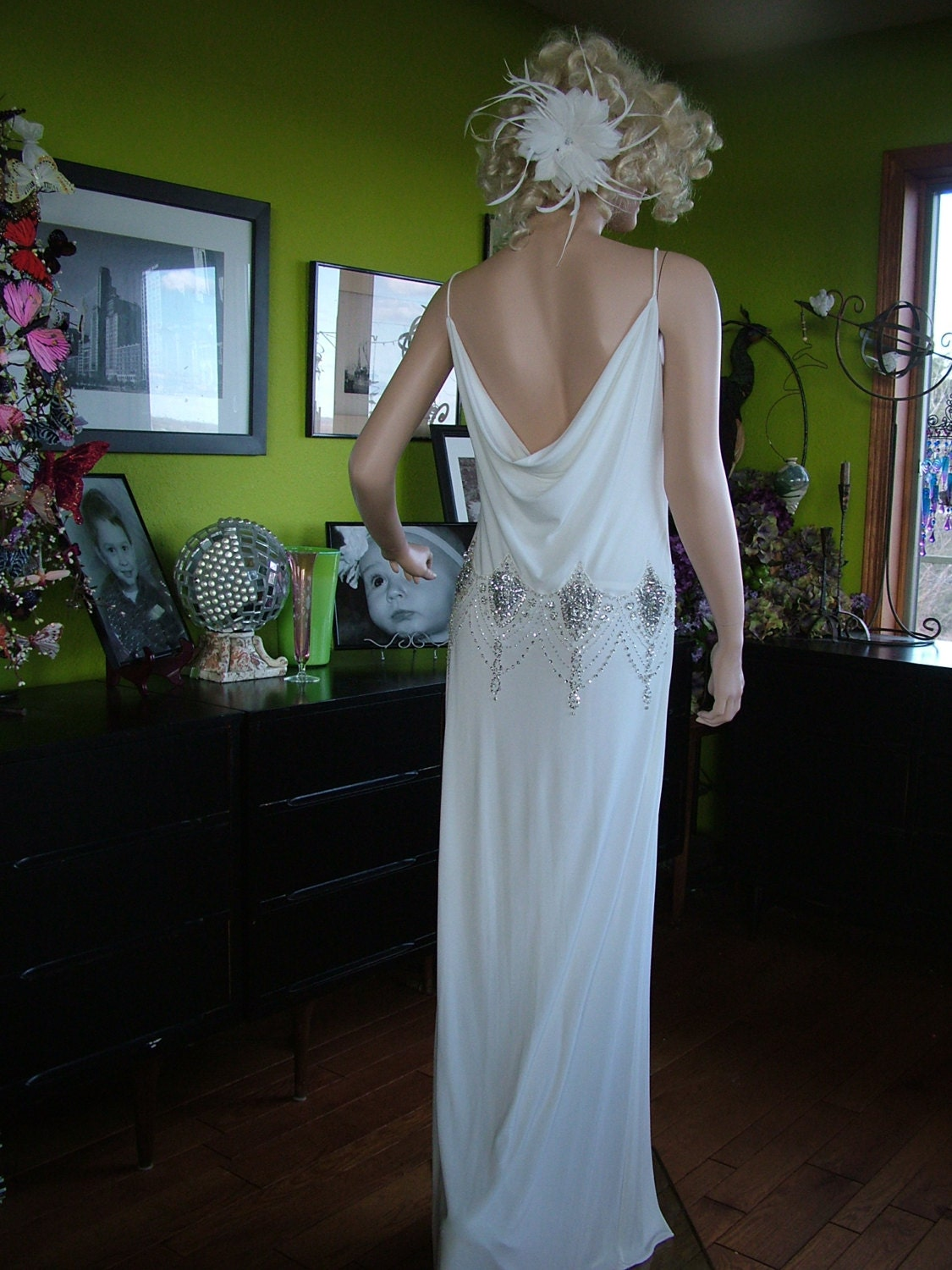 Great gatsby 1920s flapper wedding dress by for Dresses for reception weddings