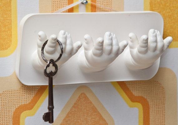 Vintage Doll Arms Bag hook / Jewelry Display / Wall Art