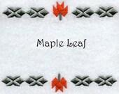 Quilt Label Made to Order Maple Leaf Design