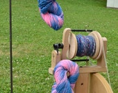 My Pinks been Tealed single ply handspun hand dyed yarn