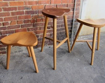 Stools made from sustainably sourced local hardwoods