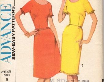 FACTORY FOLDED 1964 Misses' Dress Advance 3458 Size 12 Bust 32