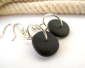 Beach Stone Jewelry Pebble Earrings - ABSOLUTELY by StoneAlone - Natural Rock Jewelry, Rock Jewelry