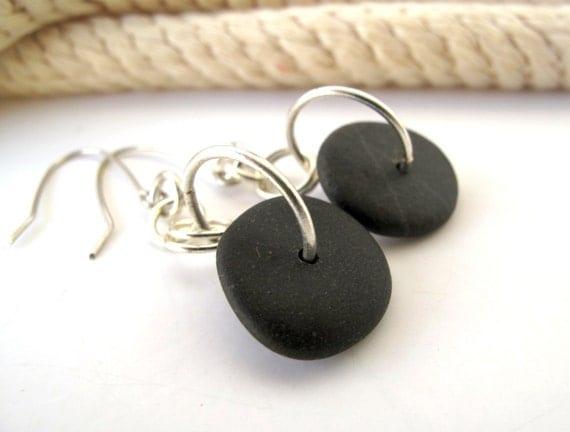 Beach Stone Jewelry Pebble Earrings - ABSOLUTELY by StoneAlone - Natural Rock Jewelry, Rock Jewelry