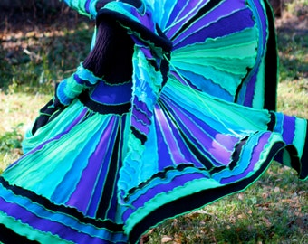 SuperDuperUbberAwesome Custom Kaleidoscope gypsy  faery elf festival patchwork  upcycled  recycled sweater coat