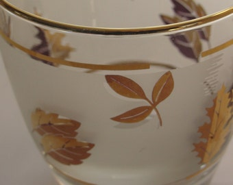 Libbey Gold Leaf cocktail glasses from 1950's
