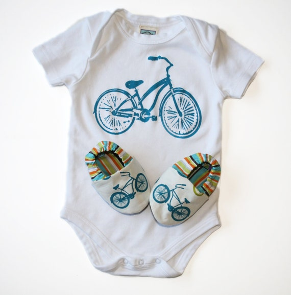 Bicycle Baby Gift Set Organic Cruiser Bike Shoes