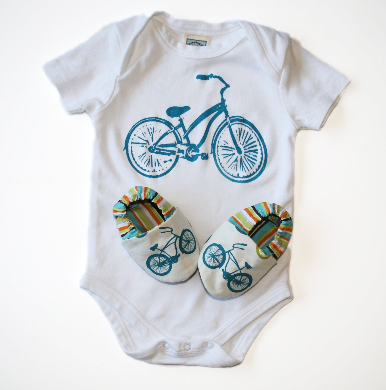Baby Gift Organic : Bicycle baby gift set organic cruiser bike shoes and