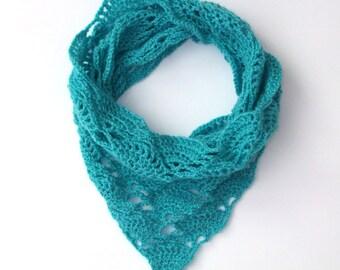 Crochet Pattern PDF - Triangle Infinity Cowl - Electronic PDF File - Infinity Scarf Crochet Pattern instant download