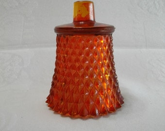 Home Interiors Vintage Red Glass Diamond Cut Candle Cup for a Candle Holder