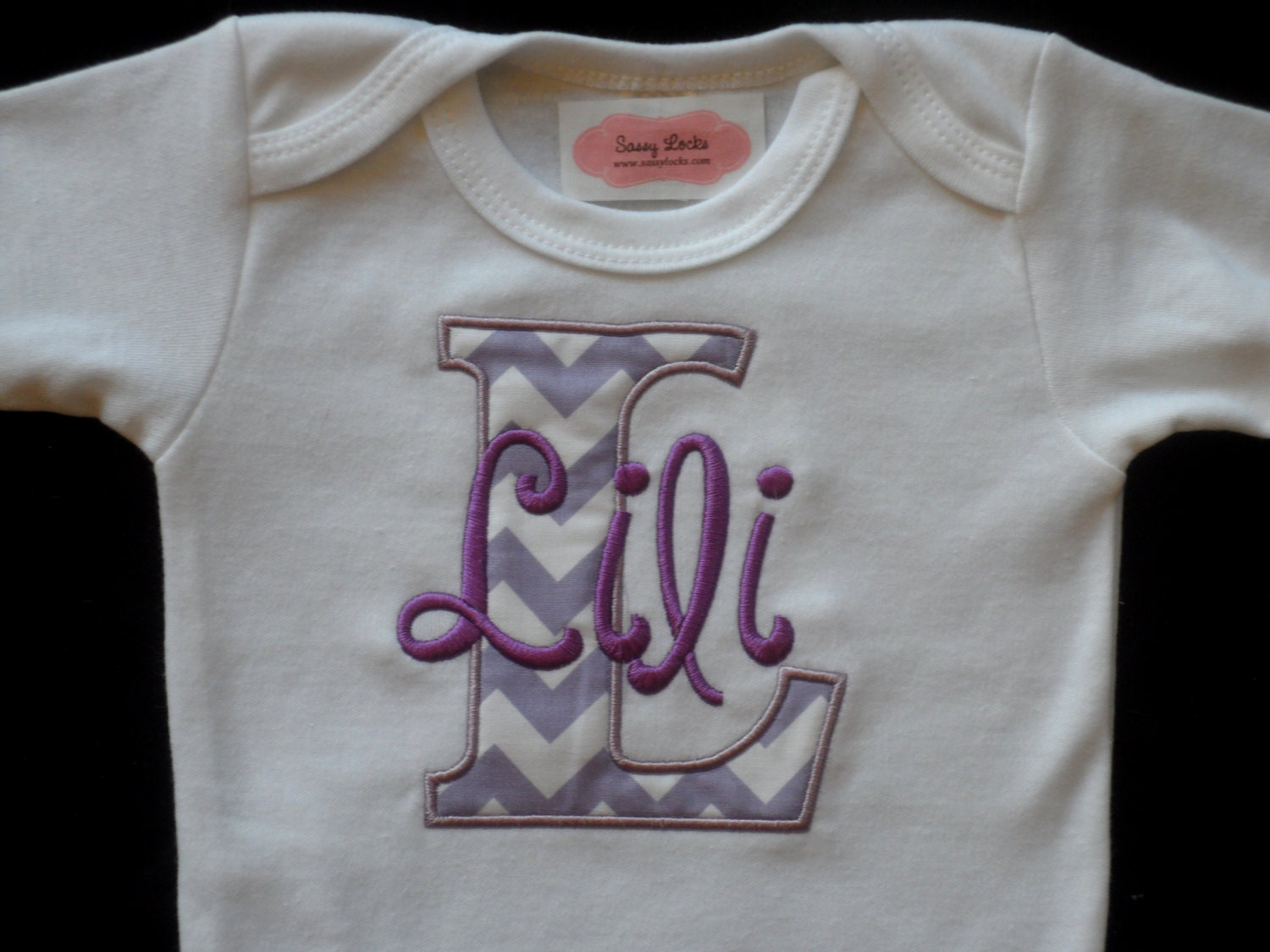 Monogram Baby Girl Clothes Chevron Personalized Baby Take Home