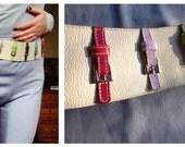 80s Designer Rainbow Waist Sincher Belt - OOAK Piece