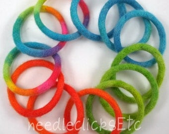 DIY - felted bangles pattern tutorial PDF, instant download