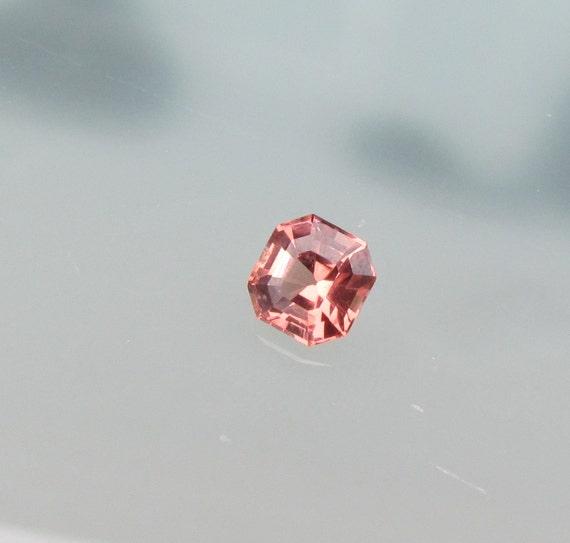 Peach Spinel Asscher Cut Loose Gemstone For Anniversary Ring