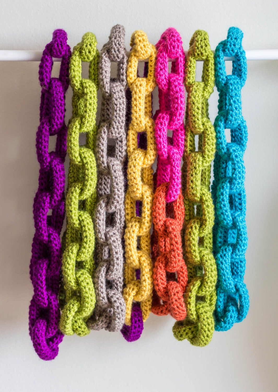 Crochet Stitches Jewelry : Chain Link Scarf Crochet Pattern Crochet Scarf by KnitsForLife