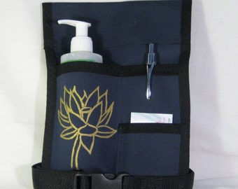 Made to Order - 3 Pocket Massage Holster, LEFT hip, Hand Painted in ANY Color with belt