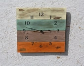 Pallet Wood Clock, Beach House style...ReCycled wood...distressed.  Reclaimed.  UpCycled...regular numbers..Customize