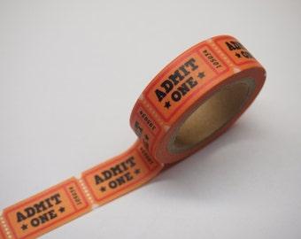 Washi Tape - Admit Tickets  (10M)