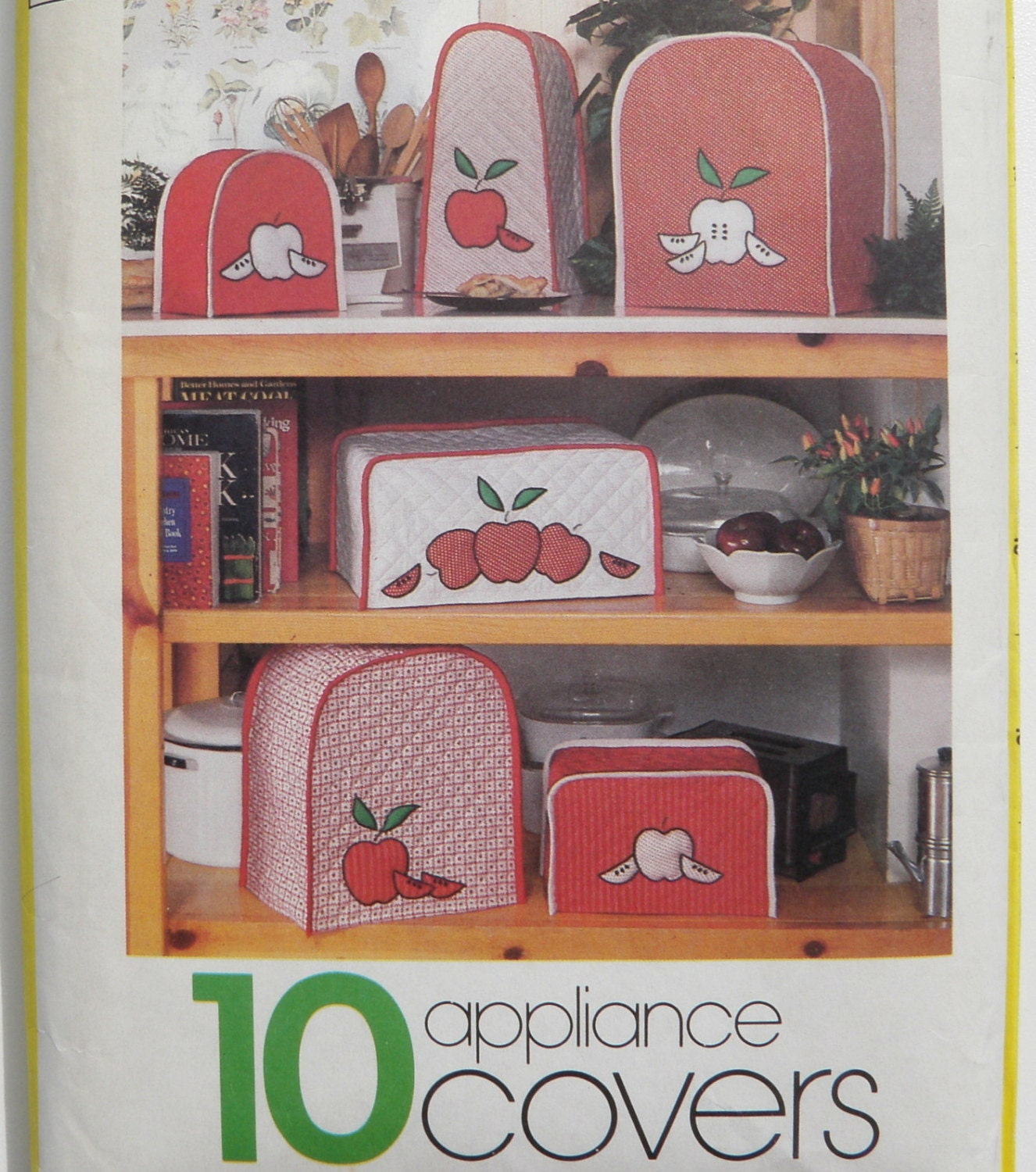 Kitchen Appliance Cover Vintage Retro Pattern Simplicity 127