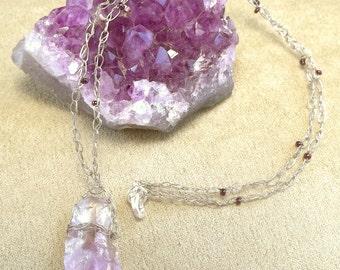 Amethyst Crystal Pendant