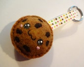 Felt Chocolate Chip Cookie Keychain