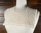 Off White Crochet Lace Victorian Style Collar