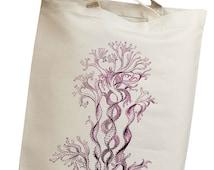 Sea Coral & Kelp 08 Eco Friendly Canvas Tote Bag (isl034)