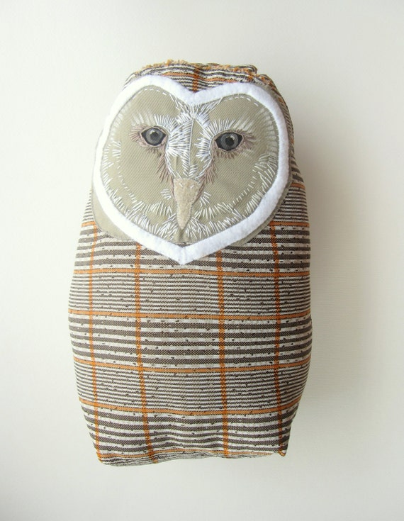 Owl Decor Large Stuffed Animal Barn Owl Pillow