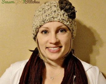 Headwrap-Oatmeal with barley flower in Adult or Child size