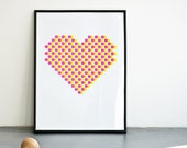 Every day is Valentine. Neon pink screenprinte poster - love - romatic - gift