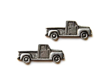 Truck Cufflinks - Gifts for Men - Anniversary Gift - Handmade - Gift Box Included