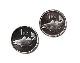 Iceland Coin Cufflinks