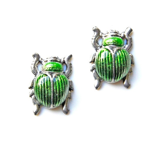 Beetle Cufflinks - Gifts for Men - Anniversary Gift - Handmade - Gift Box Included