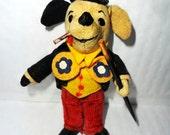 Vintage toy : Vintage Toy, Little Dapper Dog. Interesting Old Felt SCHUCO Dog Character, Top Dog Collectors Toy