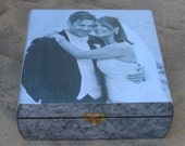 Personalized Wedding Keepsake Box, Unique Engagement Gift, Father of the Bride Photo Memory Box, Parent Thank You Gift