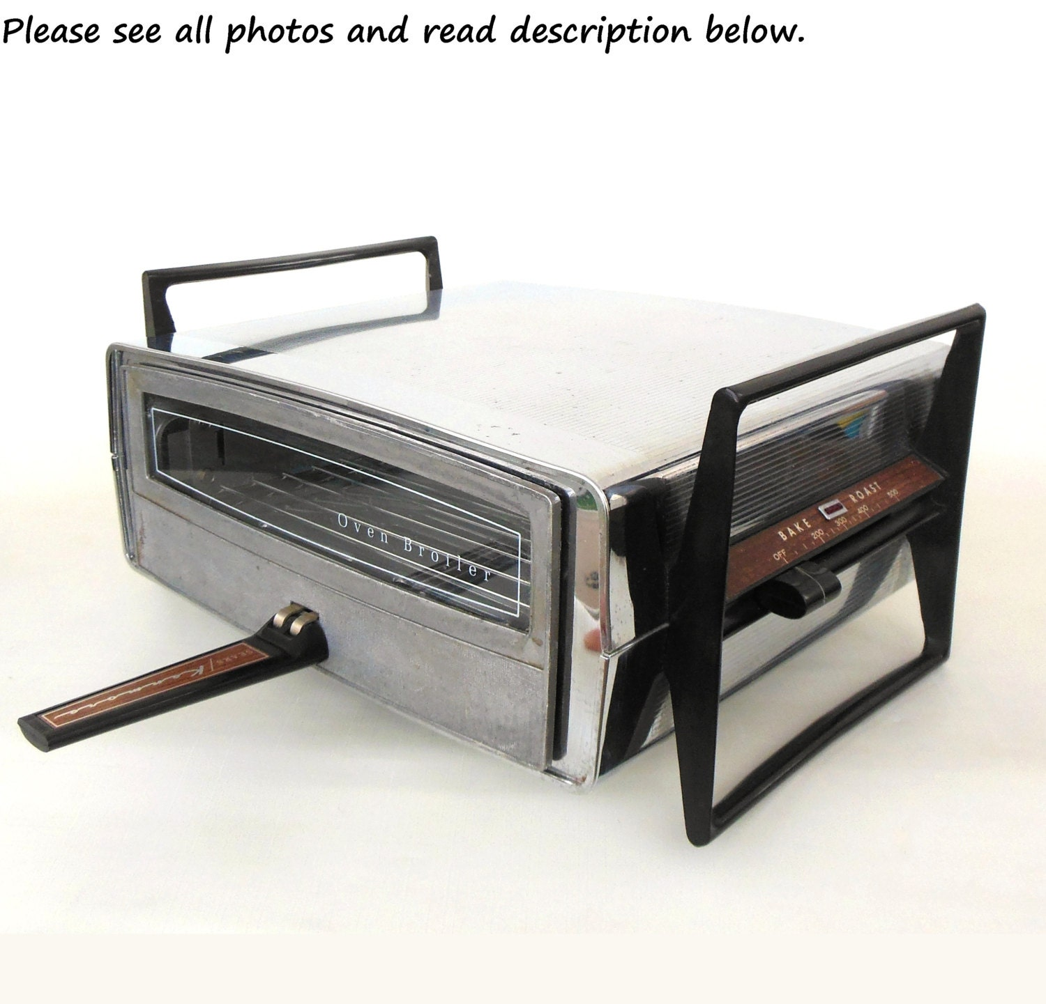 Old Ge Toaster Ovens ~ Chrome toaster oven broiler sears dominion reversible