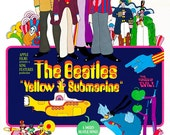The Beatles - Yellow Submarine - Home Theater Decor -  Movie Musical Poster Print  -13x19 - Vintage Movie Poster - Rock and Roll Poster