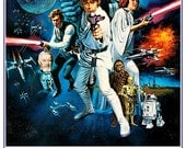 "Star Wars poster- Home Theater Decor - Movie Poster Print  13""x19"" or 24""x36"" Sci Fi Action Adventure Movie Poster - Starwars Han Solo R2D2"