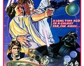 "Star Wars poster- Luke Skywalker Princess Leia Darth Vader 13""x19""  Classic Sci Fi  Movie Poster Art - Starwars Han Solo R2D2 C3PO"
