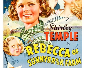 Shirley Temple - Rebecca Of Sunnybrook Farm - Movie Musical Poster Print  13x19 - Vintage Movie Poster -
