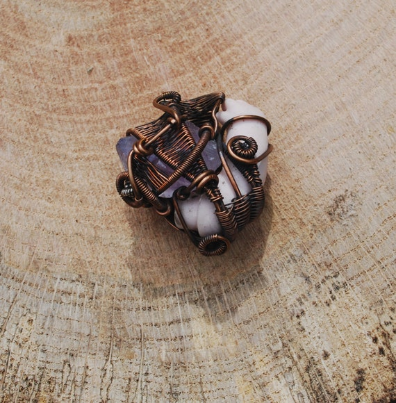 Copper Wrapped // Vintage Doll Arm // Amethyst Point // Wire Pendant