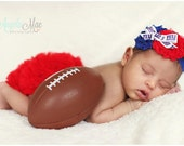 New York Giants royal blue and red headband.  Infant, toddler, child, adult sizes