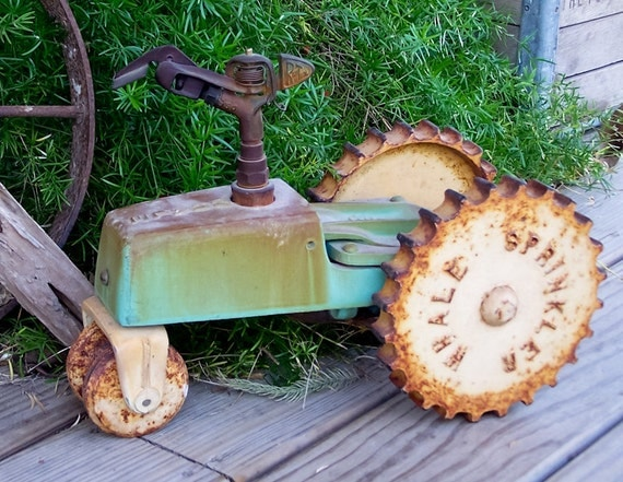 Items Similar To Vintage Cast Iron Whale Tractor Sprinkler