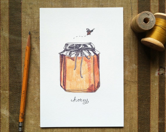 Honey Bee - 8x10 Art Print