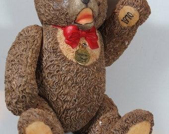 1970 Limited Edition Porcelain Steiff Bear with Movable Joints, Teddy Bear