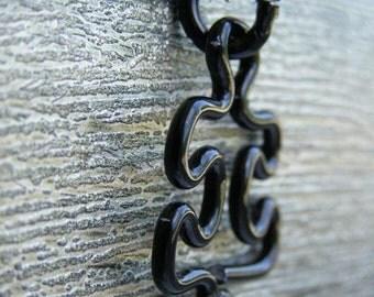 Puzzle Piece Necklace - Large Black
