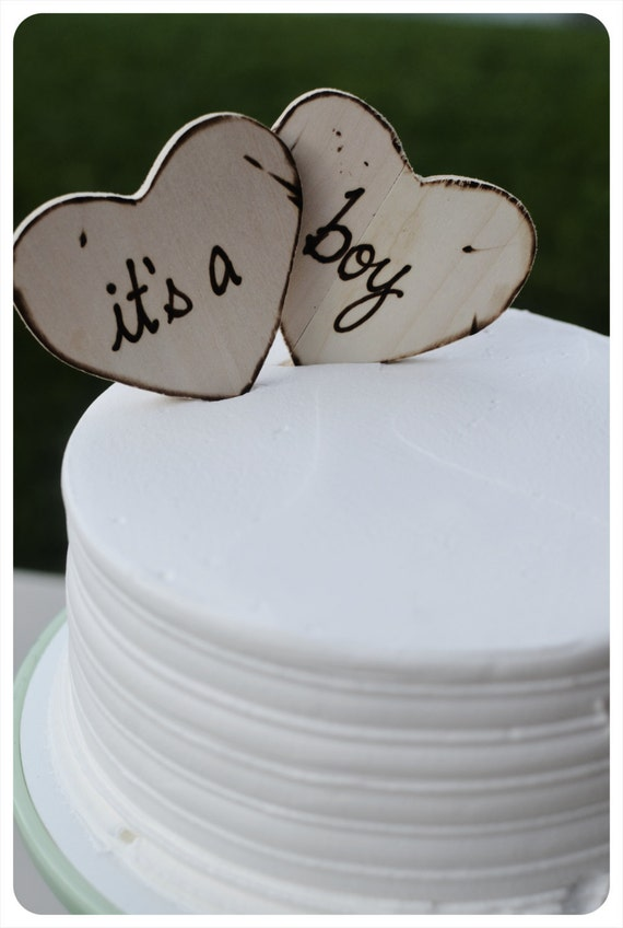 baby shower custom cake toppers for rustic woodland barn country