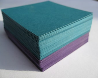 75 Squares. 4 inch. CHOOSE YOUR COLORS. Wedding, Escort, Seating Card. Custom Orders Welcome.