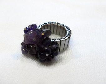 Amethyst Ring - February Birthstone - Purple - Gift